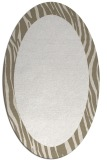 rug #1042870 | oval plain white rug
