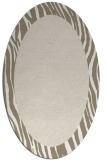 rug #1042872 | oval animal rug