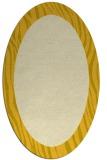 rug #1042874 | oval yellow animal rug