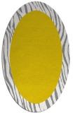 rug #1042882 | oval plain white rug