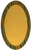 rug #1042886 | oval light-orange rug