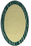 rug #1042890 | oval plain blue-green rug