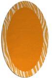 rug #1042918 | oval plain light-orange rug