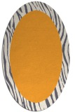 rug #1042922 | oval plain light-orange rug