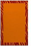rug #1043130 |  plain red-orange rug