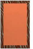 rug #1043142 |  plain red-orange rug