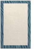 rug #1043234 |  plain blue-green rug