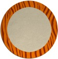 rug #1043294 | round plain orange rug