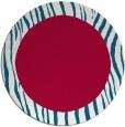 rug #1043414 | round plain red rug