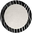 rug #1043438 | round plain black rug