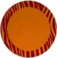 rug #1043498 | round plain red-orange rug