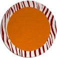 rug #1043502 | round plain orange rug