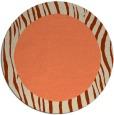 rug #1043506 | round plain orange rug