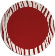 rug #1043554 | round red animal rug