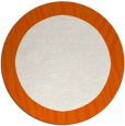 rug #1043574 | round plain red-orange rug