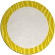 rug #1043586 | round plain white rug