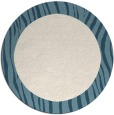 rug #1043602 | round plain blue-green rug