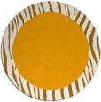 rug #1043646 | round plain light-orange rug
