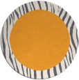 rug #1043658 | round plain light-orange rug