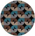 rug #104377   round black natural rug