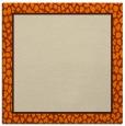 rug #1044030 | square plain orange rug