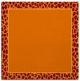 rug #1044234 | square plain red-orange rug