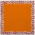 rug #1044238 | square plain orange rug