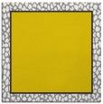 rug #1044354 | square plain yellow rug