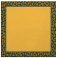 rug #1044358 | square plain light-orange rug