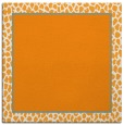 rug #1044390 | square light-orange animal rug
