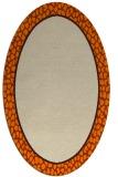 rug #1044398 | oval plain beige rug