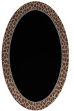 rug #1044414 | oval plain brown rug