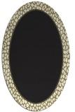 rug #1044422 | oval plain black rug