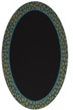 rug #1044426 | oval plain brown rug