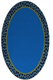 rug #1044430 | oval blue animal rug