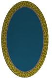 rug #1044478 | oval plain blue-green rug