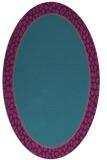 rug #1044482 | oval pink popular rug