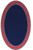 rug #1044494 | oval plain blue-violet rug
