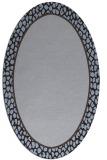 rug #1044510 | oval blue-violet rug
