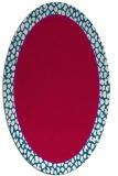 rug #1044518 | oval red borders rug
