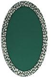 rug #1044534 | oval plain blue-green rug