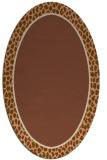 rug #1044546 | oval plain brown rug