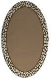 rug #1044554 | oval plain mid-brown rug