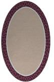 rug #1044562 | oval plain pink rug
