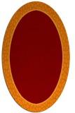 rug #1044605 | oval plain rug