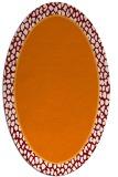 rug #1044606 | oval plain orange rug