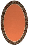 rug #1044614 | oval plain red-orange rug