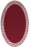 rug #1044622 | oval pink animal rug