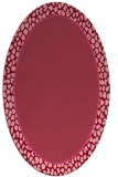 rug #1044626 | oval pink borders rug