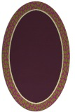 rug #1044638 | oval plain purple rug